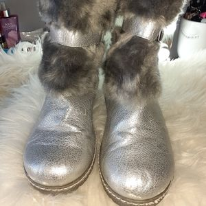 Target Girl's Silver and Gray Boots
